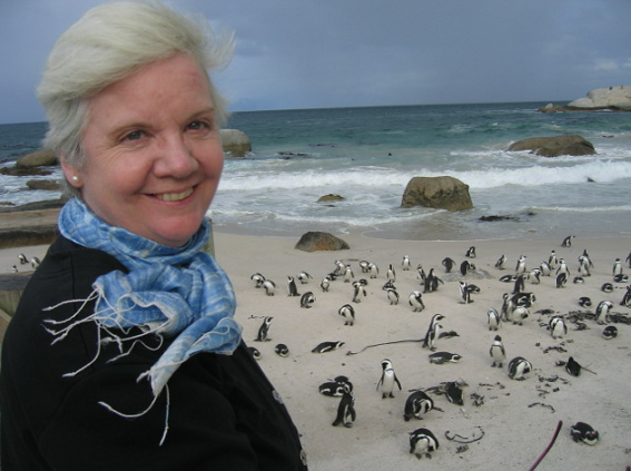 Honey Honey in South Africa, 2007. She loved traveling and animals, especially penguins (not cows).